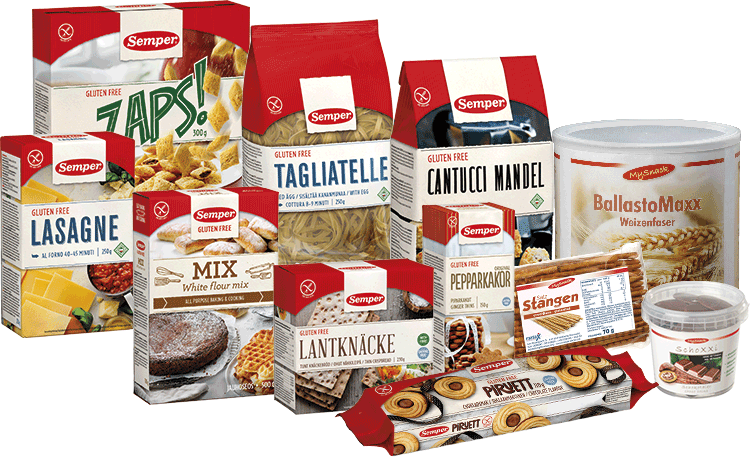 glutenfreies Produktsortiment